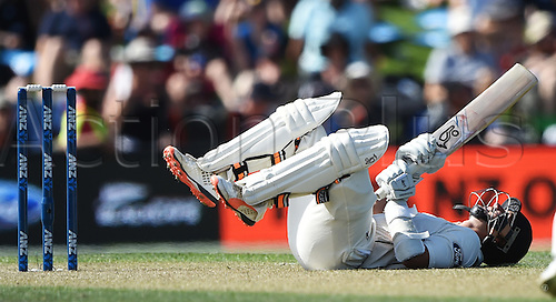 20.02.2016. Christchurch, New Zealand.  BJ Watling. New Zealand Black Caps versus Australia. Day 1, 2nd test match, Hagley Oval in Christchurch, New Zealand. Saturday 20 February 2016.