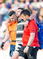 Picture by Allan McKenzie/SWpix.com - 10/05/2018 - Rugby League - Ladbrokes Challenge Cup - Featherstone Rovers v Hull FC - LD Nutrition Stadium, Featherstone, England - Hull FC's Josh Bowden is helped off after injury.