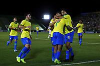 29th October 2019; Bezerrao Stadium, Brasilia, Distrito Federal, Brazil; FIFA U-17 World Cup Brazil 2019, Brazil versus New Zealand; Kaio Jorge of Brazil celebrates his goal in the 18th minute for 1-0 - Editorial Use