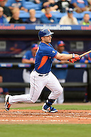 New York Mets third baseman David Wright (5) during a spring training game against the Washington Nationals on March 27, 2014 at Tradition Field in St. Lucie, Florida.  Washington defeated New York 4-0.  (Mike Janes/Four Seam Images)