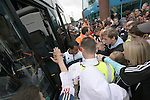 Carlisle United 1 Newcastle United 1, 21/07/2007. Brunton Park, Pre-season Friendly. Newcastle United's Nolberto Solano signing autographs and managing a 'high-five' with a spectator after a pre-season friendly against Carlisle United at the Cumbrian's Brunton Park ground. The match ended one goal each with Newcastle equalising Danny Livesey's opener through Nolberto Solano in the last minute. During the 2007-08 season Carlisle played in League One, English football's third tier, while Newcastle were a top Premiership team. Photo by Colin McPherson.