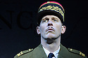 London, UK. 18.02.2016. Bob Benton and Daniel Brodie for DB Productions in association with Park Theatre present the World Premiere of<br /> &quot;The Patriotic Traitor&quot;<br /> written and directed by Jonathan Lynn. Picture shows: Laurence Fox (Charles de Gaulle). Photograph &copy; Jane Hobson.