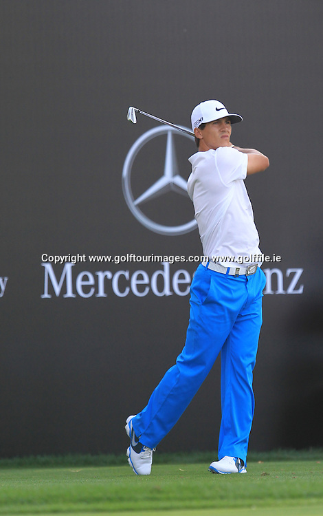 Thorbjorn Olesen during the second round of the 2013 Omega Dubai Desert Classic being played over the Majlis Golf Course, Emirates Golf Course from 31st January to 3rd February 2013: Picture Stuart Adams www.golftourimages.com/www.golffile.ie:  1st February 2013