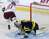 Steven Whitney (BC - 21), Sam Marotta (Merrimack - 30) - The Boston College Eagles defeated the visiting Merrimack College Warriors 4-3 on Friday, November 16, 2012, at Kelley Rink in Conte Forum in Chestnut Hill, Massachusetts.