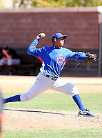 Arismendy Mota, Chicago Cubs minor league spring training..Photo by:  Bill Mitchell/Four Seam Images.
