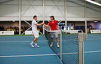 19-01-13, Tennis, Rotterdam, Wildcard for qualification ABNAMROWTT, Ton Smit en Jesse Timmermans(L)