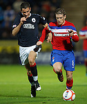 Steven Davis pursued by Kieran Duffie of Falkirk