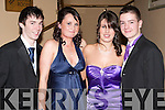BALL: Enjoying the Mercy Mounthawk deb's ball at the Abbeygate Hotel on Saturday l-r: Bobby Leane, Hazel Hanley, Ashley King and Anthony O'Sullivan.