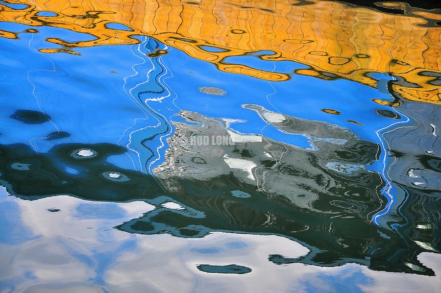 Refection of a fishing boat, Juneau, Alaska.