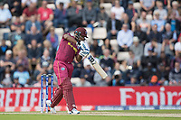 Nicholas Pooran (West Indies) drives through backward point during England vs West Indies, ICC World Cup Cricket at the Hampshire Bowl on 14th June 2019