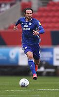 4th July 2020; Ashton Gate Stadium, Bristol, England; English Football League Championship Football, Bristol City versus Cardiff City; Sean Morrison of Cardiff City brings the ball forward