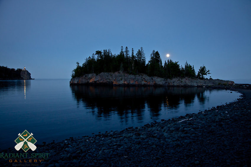 &quot;Blue Moon at Split Rock Lighthouse&quot;<br />