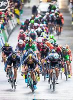 Picture by Alex Whitehead/SWpix.com - 09/09/2017 - Cycling - OVO Energy Tour of Britain - Stage 7, Hemel Hempstead to Cheltenham - LottoNL-Jumbo's Dylan Groenewegen wins the stage.