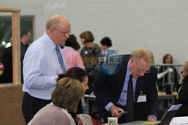 Returning Officer Kevin Martin as Counting is underway in the 2011  Presidential Election at  Donaghmore Ashbourne GAA 28/10/11..(Photo credit should read Jenny Matthews www.newsfile.ie)....This Picture has been sent you under the conditions enclosed by:.Newsfile Ltd..The Studio,.Millmount Abbey,.Drogheda,.Co Meath..Ireland..Tel: +353(0)41-9871240.Fax: +353(0)41-9871260.GSM: +353(0)86-2500958.email: pictures@newsfile.ie.www.newsfile.ie.