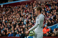 BIRMINGHAM, ENGLAND - MARCH 21:   Gylfi Sigurosson of Swansea City  in action during the Barclays Premier League match between Aston Villa and Swansea City at Villa Park on March 21, 2015 in Birmingham, England. (Photo by Athena Pictures/Getty Images)