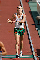 Robert Heffernan had a mark of 1:23:42 in the 20k racewalk on Sunday morning August 26, 2007. Photo by Errol Anderson,The Sporting Image.