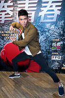 Launch of the MMA movie 'Fist of Youth' in Hong Kong. Stars of the movie.MMA actor Jason Li Zongyan strikes a pose. Hong Kong on August 26, 2016