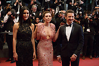 Elizabeth Olsen, Jeremy Renner, Julia Jones at the The Square premiere for at the 70th Festival de Cannes.<br /> May 20, 2017  Cannes, France<br /> Picture: Kristina Afanasyeva / Featureflash
