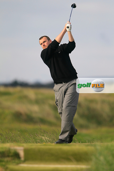Tony O'Leary (Wexford)<br /> during R1 of the East of Ireland Amateur Open championship 2013 at Co Louth Golf club, 1/6/13<br /> Picture:  Thos Caffrey / www.golffile.ie
