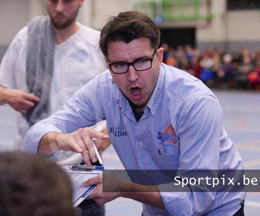 Basket Sijsele : coach Bruce Minne<br /> foto VDB / Bart Vandenbroucke