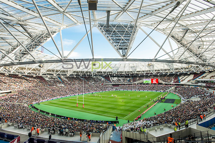 Picture by Allan McKenzie/SWpix.com - 13/11/2016 - Rugby League - 2016 Ladbrokes Four Nations - England v Australia - The Olympic Stadium, London, England - The brief, general view, GV.