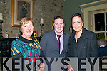 Attending the Newtownsandes Creamery Social held at the Listowel Arms Hotel on Friday night last were Anne Flaherty, Timmy Flaherty & Fionnuala O'Mara.