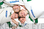 SOCCER SCHOOL: Getting their heads together at the National Irish Bank FAI Summer Soccer School held at the Inter Kenmare soccer pitch last week were Adam Brennan, Tom O'Sullivan, Ciaran Crowley and Gary Orpen.   Copyright Kerry's Eye 2008