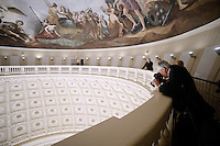 The Interior of the recently restored US Capitol dome is shown during a tour, on November 15, 2016 in Washington, D.C.<br /> Credit: Olivier Douliery / Pool via CNP /MediaPunch