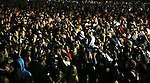 Supporters of Presidential candidate Barack Obama, during an election rally,  in Kissimmee,  Fla Wednesday Oct 29 2008.  Americans will go to the polls on Nov 4, at a time of great Financial crisis, war in Iraq and Afghanistan, to elect a  new President. A vote, that will affect not only America, but the whole world. Photo by Eyal Warshavsky .