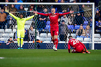 1st February 2020; St Andrews, Birmingham, Midlands, England; English Championship Football, Birmingham City versus Nottingham Forest; Joe Worrall of Nottingham Forest complains to the referee after he thinks Tiago Silva was fouled