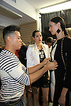 Models get styled by Celebrity Fashion Stylist Felix Mercado's Fashion Nght Out Runway Show and After Party was held on September 6, 2012 at Loehmann's, New York City, New York with celebrities Jordana Brewster (As The World Turns, Dallas and Fast and the Furious), Lisa Vanderpump (The Real Housewives of Beverly Hills with husband Ken Todd and doggie Giggy (Gigolo) and Iris Apfel (fashion muse).  (Photo by Sue Coflin/Max Photos)