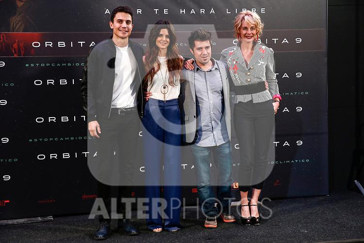 """Alex Gonzalez, Clara Lago, Hatem Khraiche and Belen Rueda attends the junket of the film """"Orbita 9"""" in Madrid, Spain. April 05, 2017. (ALTERPHOTOS / Rodrigo Jimenez)"""