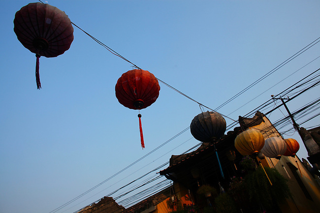 Paper lanterns. Hoi An, Vietnam. April 15, 2016.