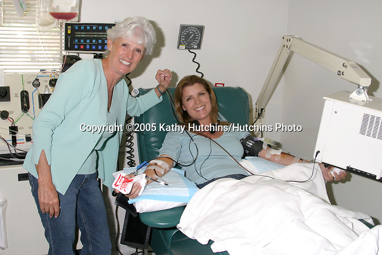 Kimberlin Brown donating stem cells for use in transplant to leukemia patient.City of Hope.October, 2005.©2005 Kathy Hutchins / Hutchins Photo
