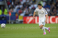 Cardiff City Stadium, Cardiff, South Wales - Tuesday 12th Aug 2014 - UEFA Super Cup Final - Real Madrid v Sevilla - <br /> <br /> Real Madrid&rsquo;s James Rodriguez in action<br /> <br /> <br /> <br /> <br /> Photo by Jeff Thomas/Jeff Thomas Photography