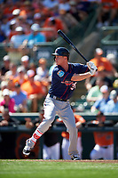Minnesota Twins second baseman James Beresford (30) at bat during a Spring Training game against the Baltimore Orioles on March 7, 2016 at Ed Smith Stadium in Sarasota, Florida.  Minnesota defeated Baltimore 3-0.  (Mike Janes/Four Seam Images)