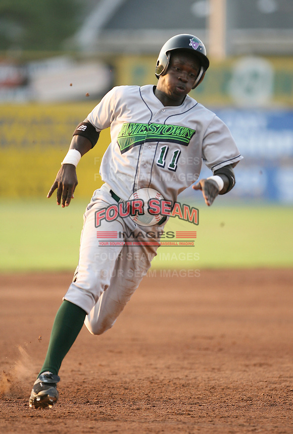 Rigoberto Silverio of the Jamestown Jammers, Class-A affiliate of the Florida Marlins, during New York-Penn League baseball action.  Photo by Mike Janes/Four Seam Images