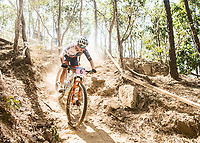 Picture by Alex Broadway/SWpix.com - 09/09/17 - Cycling - UCI 2017 Mountain Bike World Championships - XCO - Cairns, Australia - Evie Richards of Great Britain competes in the Women's Under 23 XCO Final.