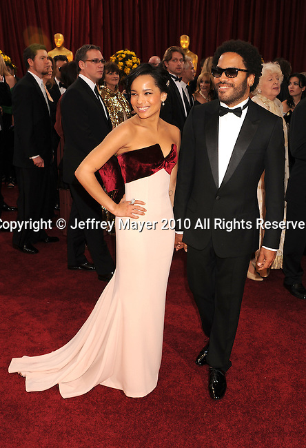 HOLLYWOOD, CA. - March 07: Actress Zoe Kravitz and musician Lenny Kravitz  arrive at the 82nd Annual Academy Awards held at the Kodak Theatre on March 7, 2010 in Hollywood, California.