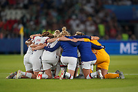 PARIS, FRANCE - JUNE 28: United States during a 2019 FIFA Women's World Cup France quarter-final match between France and the United States at Parc des Princes on June 28, 2019 in Paris, France.