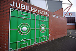 The famous old metal gates at the Vitality Stadium, home to Bournemouth FC<br /> - Barclays Premier League - Bournemouth vs Manchester United - Vitality Stadium - Bournemouth - England - 12th December 2015 - Pic Robin Parker/Sportimage