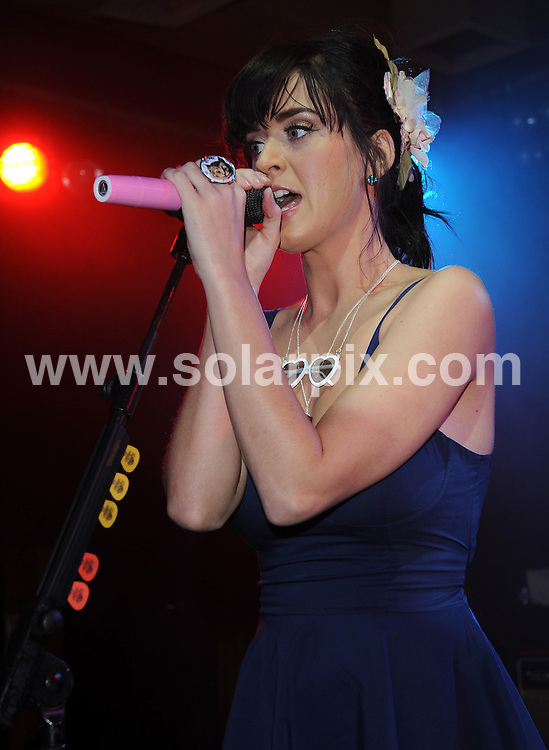 **ALL ROUND PICTURES FROM SOLARPIX.COM**.**WORLDWIDE SYNDICATION RIGHTS**.Katy Perry the American singer-songwriter performing live in concert at The Scala, London, UK. Wednesday, September 24 2008..JOB REF: 7448 SSD     DATE: 24_09_2008.**MUST CREDIT SOLARPIX.COM OR DOUBLE FEE WILL BE CHARGED* *UNDER NO CIRCUMSTANCES IS THIS IMAGE TO BE REPRODUCED FOR ANY ONLINE EDITION WITHOUT PRIOR PERMISSION*