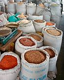 ERITREA, Asmara, beans, grains, and spices for sale at an open air market in Asmara