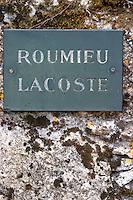 Chateau Roumieu-Lacoste. Sauternes, Bordeaux, France