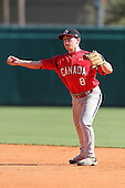 Team Canada Kyle Hann #8 during a game vs the Nexen Heroes at Al Lang Field in St. Petersburg, Florida;  February 28, 2011.  Canada defeated Nexen 2-0.  Photo By Mike Janes/Four Seam Images