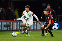 Jamal Lewis of Norwich City evades the attentions of Marc Pugh of AFC Bournemouth during AFC Bournemouth vs Norwich City, Caraboa Cup Football at the Vitality Stadium on 30th October 2018