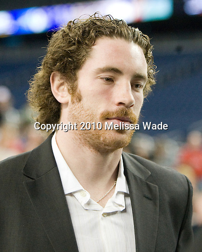 Ben Street (Wisconsin - 22) - The Hobey Baker was awarded to Blake Geoffrion of the Wisconsin Badgers in a ceremony at Ford Field on Friday, April 9, 2010, in Detroit, Michigan.  Maine Black Bear Gustav Nyquist and UNH Wildcat Bobby Butler were also members of the Hobey Hat Trick (three finalists).