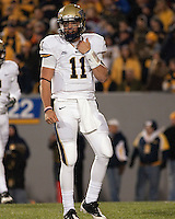 Pitt quarterback Bill Stull. The West Virginia Mountaineers defeated the Pittsburgh  Panthers 19-16 on November27, 2009 at Mountaineer Field at Milan Puskar Stadium, Morgantown, West Virginia.
