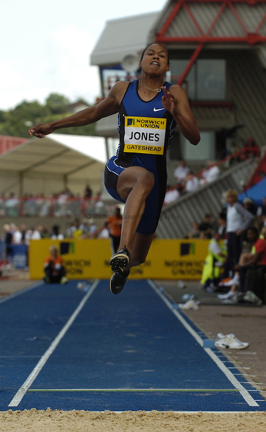 Photo. Jed Wee..Norwich Union British Grand Prix, 27/06/2004..America's Marion Jones.