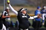Western Nevada's Kaitlyn Jimmy pitches against Salt Lake Community College at Edmonds Sports Complex in Carson City, Nev., on Friday, April 15, 2016. <br />Photo by Cathleen Allison